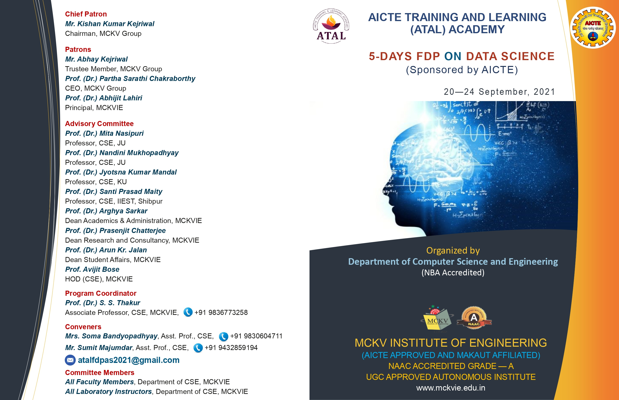 ATAL – FDP on Data Science by CSE Department